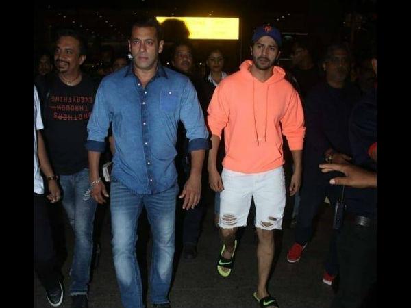 भारत: सलमान खान की फिल्म में सुपरस्टार की एंट्री! एयरपोर्ट पर साथ नजर आए वरुण धवन
