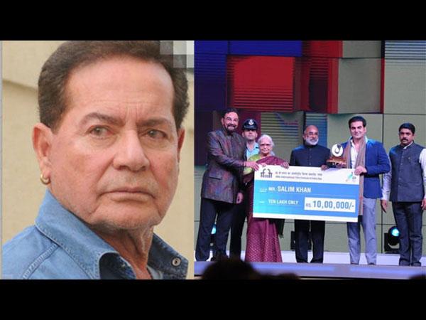 IFFI 2018: सलमान खान के पिता सलीम खान को मिला ये खास सम्मान, इसको किया समर्पित