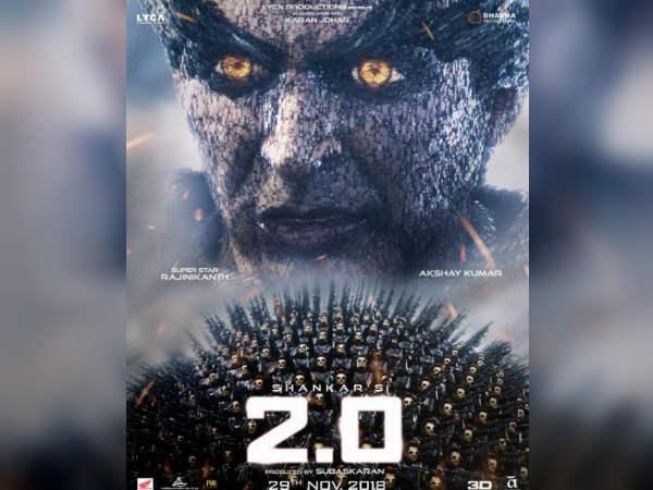 2.0 पोस्टर: अक्षय कुमार का एक और खतरनाक लुक रिलीज, देखकर फैंस भी हो जाएंगें बेचैन