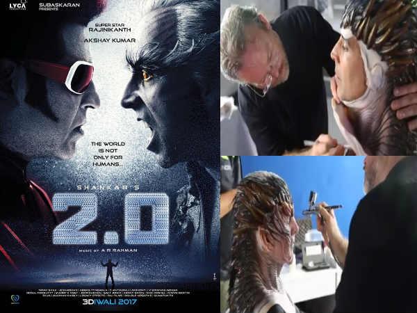 2.0:  तो ऐसे बनते थे अक्षय कुमार इतने खतरनाक, रिलीज हुआ मेकअप Video