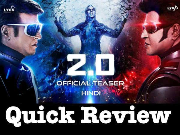 QUICK REVIEW: 2.0 जैसा कुछ भारतीय सिनेमा ने कभी बनाया ही नहीं