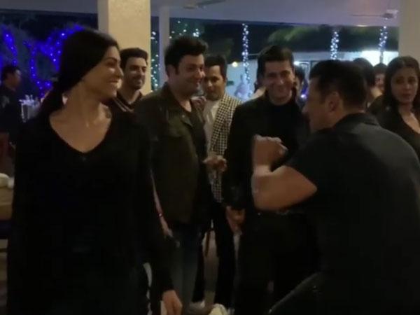 बर्थडे पर सुष्मिता सेन के साथ सलमान खान की मस्ती, Viral हुआ Cute वीडियो