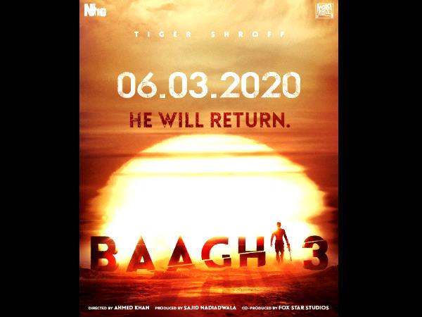 टाईगर श्राफ की धमाकेदार एक्शन फिल्म- 'बागी 3', रिलीज डेट OUT