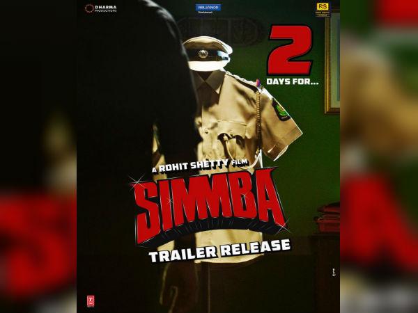 Simmba Poster: रणवीर सिंह ने किए दो ऐलान, आज पोस्टर, 2 दिन बाद होगा ये बड़ा धमाका