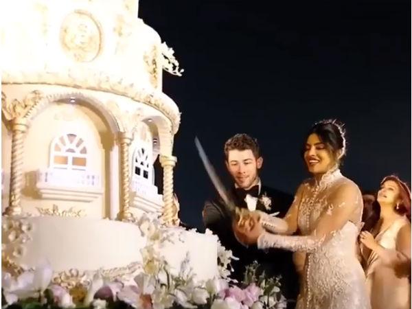 Priyanka Nick Wedding: 6 माले और 18 फीट लंबाई का केक, प्रियंका-निक का शानदार Video वायरल