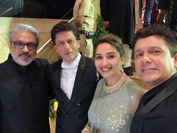 माधुरी, शाहरुख और संजय लीला भंसाली, सामने आई दीपवीर के रिसेप्शन की अनदेखी तस्वीर
