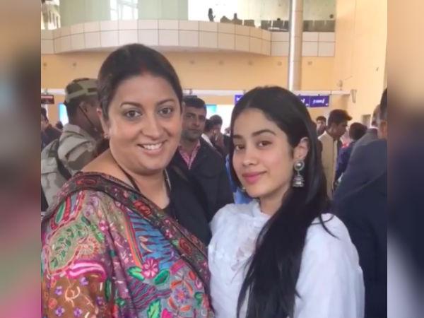 स्मृति ईरानी को आंटी कहने के बाद जाह्नवी कपूर ने मांगी माफी, 'Aunty किसको बोला'