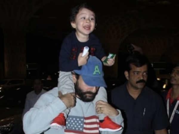 PICS: तैमूर अली खान अपना जन्मदिन के मनाने के लिए विदेश टूर पर निकले, अब्बा के कंधों पर चढ़कर