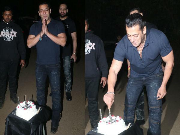 सलमान खान B'Day: मीडिया के साथ भाईजान के काटा केक, कैटरीना कैफ भी शामिल