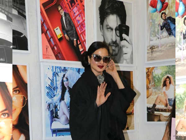 अमिताभ बच्चन की फोटो देखते ही ऐसे भाग खड़ी हुईं रेखा- वीडियो VIRAL