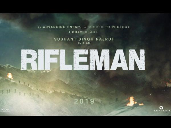 सुशांत सिंह राजपूत की अगली फिल्म 'राइफलमैन'- रिलीज हुआ POSTER