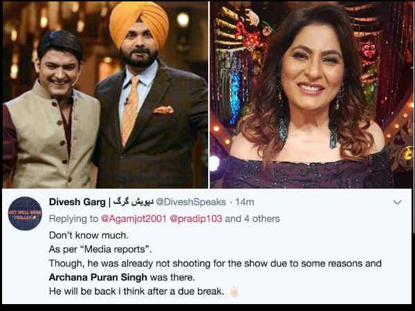 सलमान के कहने पर द कपिल शर्मा शो से बाहर हुए नवजोत सिंह सिद्धू, अर्चना पूरन सिंह ने किया रिप्लेस