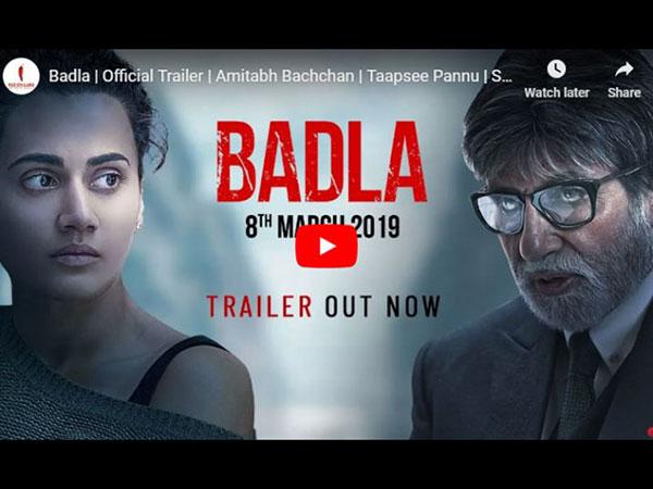 REACTIONS: अमिताभ बच्चन और तापसी के 'बदला' ट्रेलर ने लगाई आग- फैंस बोले SUPER HIT