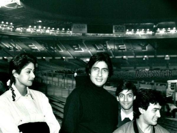 अमिताभ बच्चन ने सलमान, आमिर और श्रीदेवी के साथ फोटो शेयर की, बताया तस्वीर का इतिहास