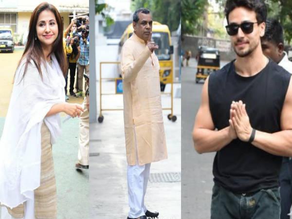 मुंबई में वोटिंग शुरु- उर्मिला, प्रियंका, रेखा, और टाइगर समेत इन सितारों ने डाला वोट- Pics