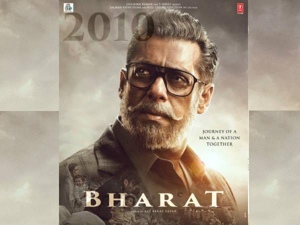 'भारत' POSTER: सफेद बाल और दाढ़ी में दमदार दिखे सलमान खान