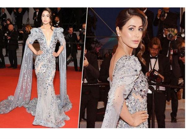 Cannes 2019: हिना खान ने डेब्यू करते ही अपने लुक से मचाया बवाल, तस्वीर से नजर नहीं हटेगी
