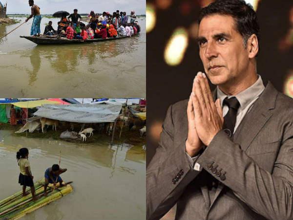 Assam Floods- बाढ़ पीड़ितों को 1 करोड़ रुपए की मदद देंगें अक्षय कुमार- कर दिया ऐलान