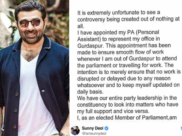 sunny-deol-trolled-for-appointing-a-representative-for-his-parliamentary-work-issues-calrification
