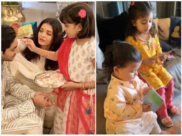 अभिषेक बच्चन की आराध्या और शाहिद कपूर की मीशा, देखिए बॉलीवुड की सबसे क्यूट Rakhi Pics