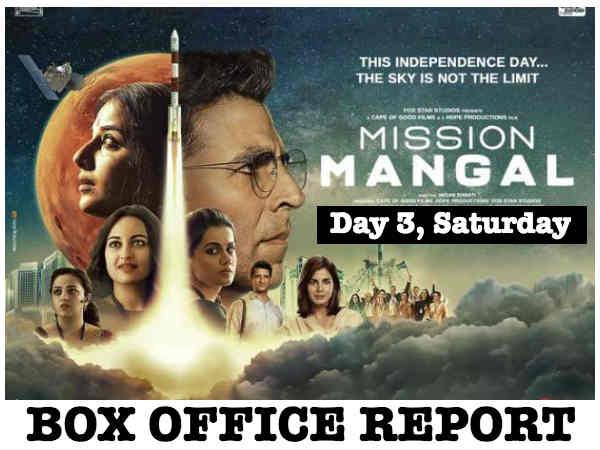 मिशन मंगल बॉक्स ऑफिस - तीसरे दिन अक्षय कुमार - विद्या बालन की फिल्म ने मारी 35 प्रतिशत की उछाल