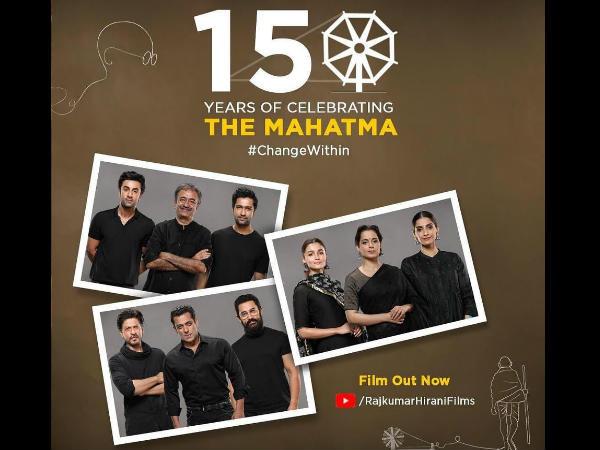 'गांधी' के 150 साल- राजकुमार हिरानी ने आठ प्रमुख अभिनेताओं के साथ दी एक विशेष श्रद्धांजलि