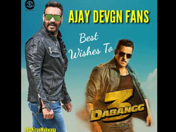 अजय देवगन फैन्स को बेहद पसंद आया दबंग 3 ट्रेलर, सलमान खान को दी जमकर बधाई