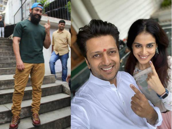 महाराष्ट्र विधानसभा चुनाव 2019: आमिर खान, माधुरी दीक्षित समेत मतदान देने पहुंचे बॉलीवुड सितारे