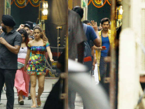 कुली नंबर 1 के सेट से Leak हो गई वरुण धवन और सारा अली खान की तस्वीरें- Viral
