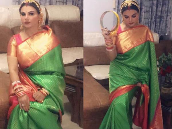 राखी सावंत ने किया अपना पहला करवा चौथ- बैक टू बैक शेयर की तस्वीरें और वीडियो, हो गईं ट्रोल