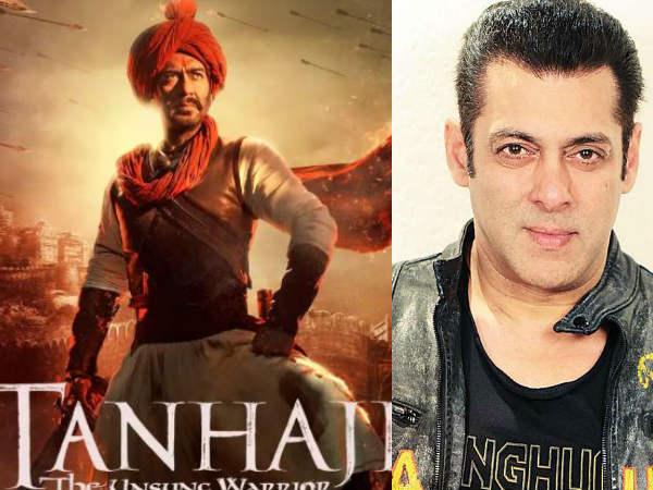 तानाजी का Trailer देख सलमान खान ने कर डाला ऐसा ट्वीट- अजय देवगन ने दिया ये जवाब!