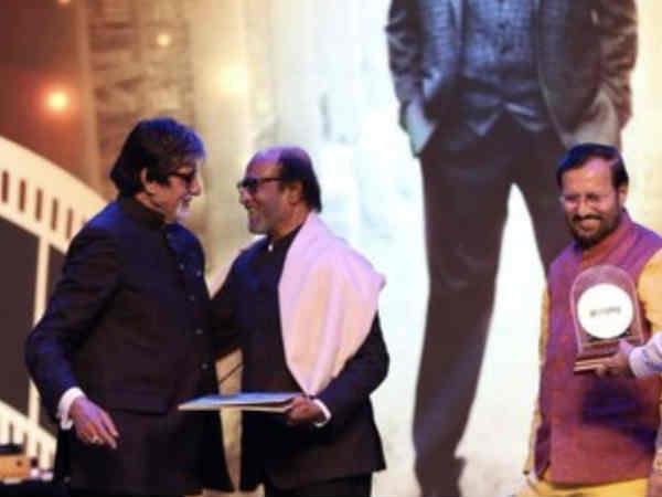 IFFI 2019: रजनीकांत को मिला अमिताभ बच्चन के हाथों से गोल्डन जुबिली सम्मान