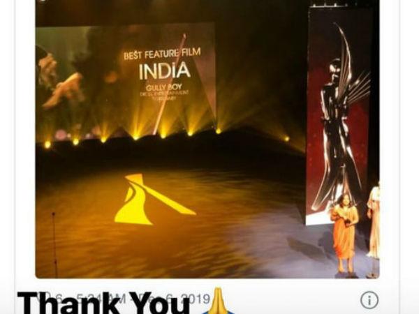 गली बॉय ने एशियाई अकादमी क्रिएटिव अवार्ड में 'सर्वश्रेष्ठ फीचर फिल्म का पुरस्कार किया अपने नाम