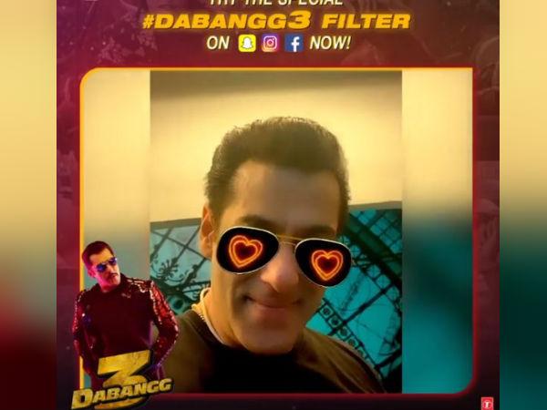 Dabangg 3- सलमान खान ने इंस्टाग्राम पर लॉन्च किया दबंग फिल्टर- आप भी बनिए चुलबुल पांडे