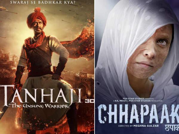 जनवरी 2020: अजय देवगन, दीपिका पादुकोण से लेकर कंगना रनौत का धमाका, बेसब्री से इंतज़ार