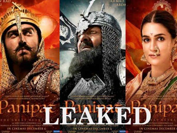 Leaked- तमिलरॉकर्स ने HD में लीक की अर्जुन कपूर की फिल्म पानीपत-धड़ल्ले से हो रही है डाउनलोड