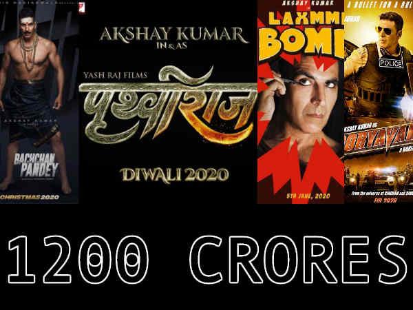 अक्षय कुमार 2020 बॉक्स ऑफिस - 4 फिल्में, 3 त्योहार और 1300 करोड़ की कमाई