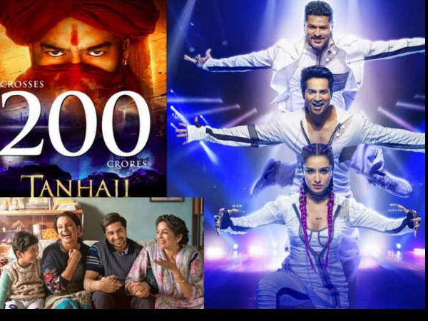 Box Office: अजय देवगन की तानाजी की रिकॅार्ड कमाई के आगे फेल हुई स्ट्रीट डांसर और पंगा !