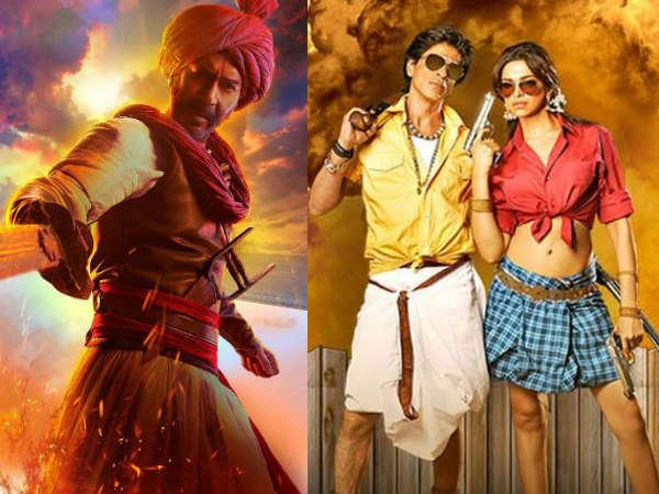 Box Office: अजय देवगन का तहलका- तान्हाजी ने शाहरुख खान की सबसे बड़ी फिल्म को किया पीछे