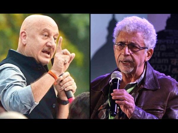 नसीरुद्दीन शाह और अनुपम खेर में Cold War: शाह द्वारा 'जोकर' कहे जाने पर खेर का तीखा जवाब- Video