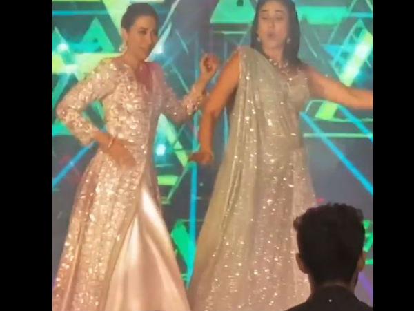 करिश्मा कपूर और करीना कपूर ने बांधा शमां- इस सुपरहिट गाने पर किया शानदार डांस- Video