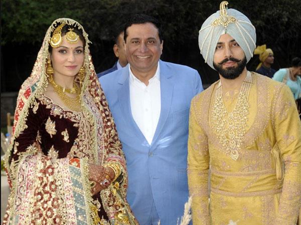 गुरदास मान के बेटे गुरीक मान ने रचाई पूर्व मिस इंडिया सिमरन कौर मुंडी के साथ शादी- फोटो वायरल