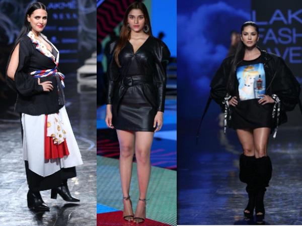 Photos: लैक्मे फैशन वीक से सनी लियोनी,नेहा धूपिया और सई मांजरेकर की ग्लैमरस फोटो-रैंप पर बिखेरा जलवा