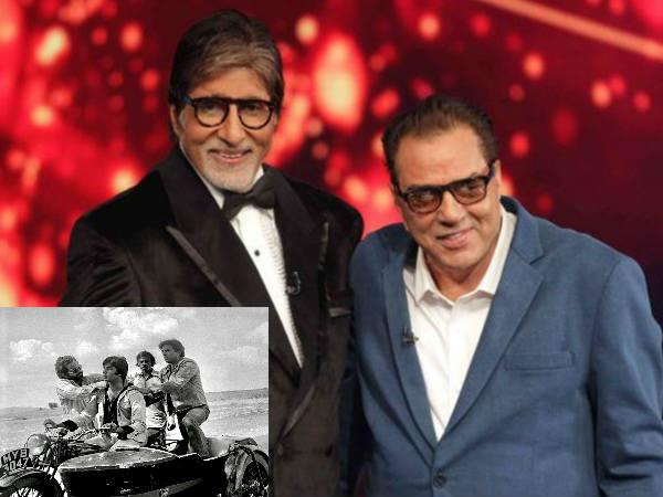 धर्मेंद्र ने अमिताभ बच्चन के साथ शेयर की शोले की ये तस्वीर- लिख दी इतनी बड़ी बात