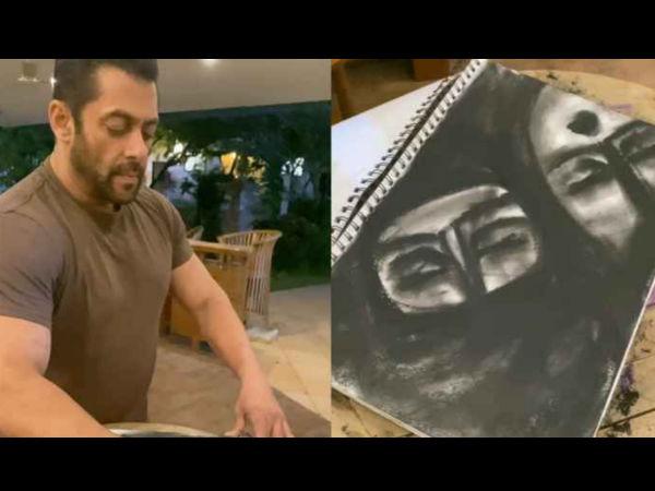सलमान खान ने बिना ब्रश के बना डाली शानदार पेंटिंग- तेजी से वायरल हुआ वीडियो