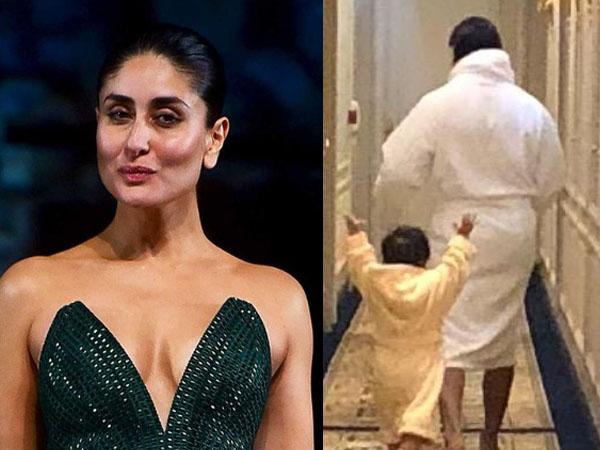 सैफ अली खान और तैमूर अली खान की ये फोटो क्यों हो रही है वायरल-करीना कपूर ने लिखा ये मैसेज