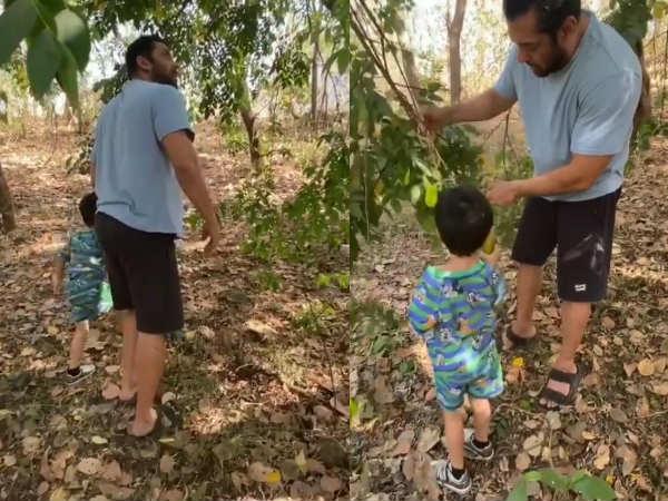 कोरोना की वजह से फिल्म शूटिंग बंद- अहिल के साथ बगीचे में एन्जॉय कर रहे हैं सलमान खान- VIDEO