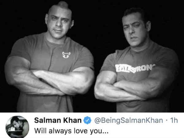 सलमान खान भतीजे की मौत से टूटे, शेयर की तस्वीर