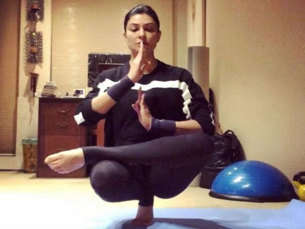 सुष्मिता सेन ने इस कठिन योगा पोज से चौंकाया- जानिए किसको दिया अगला चैलैंज