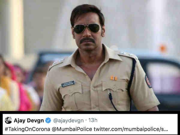 अजय देवगन ने की मुंबई पुलिस की तारीफ, असली सिंघम से मिला शानदार जवाब
